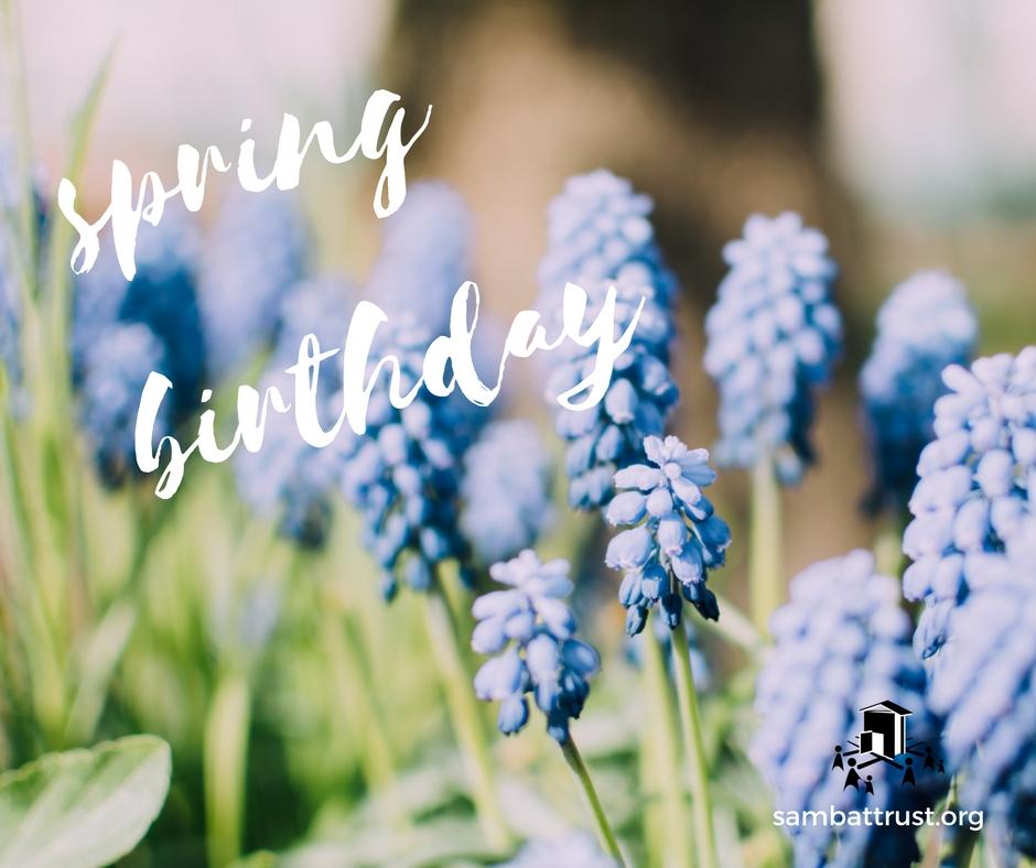 Spring birthday
