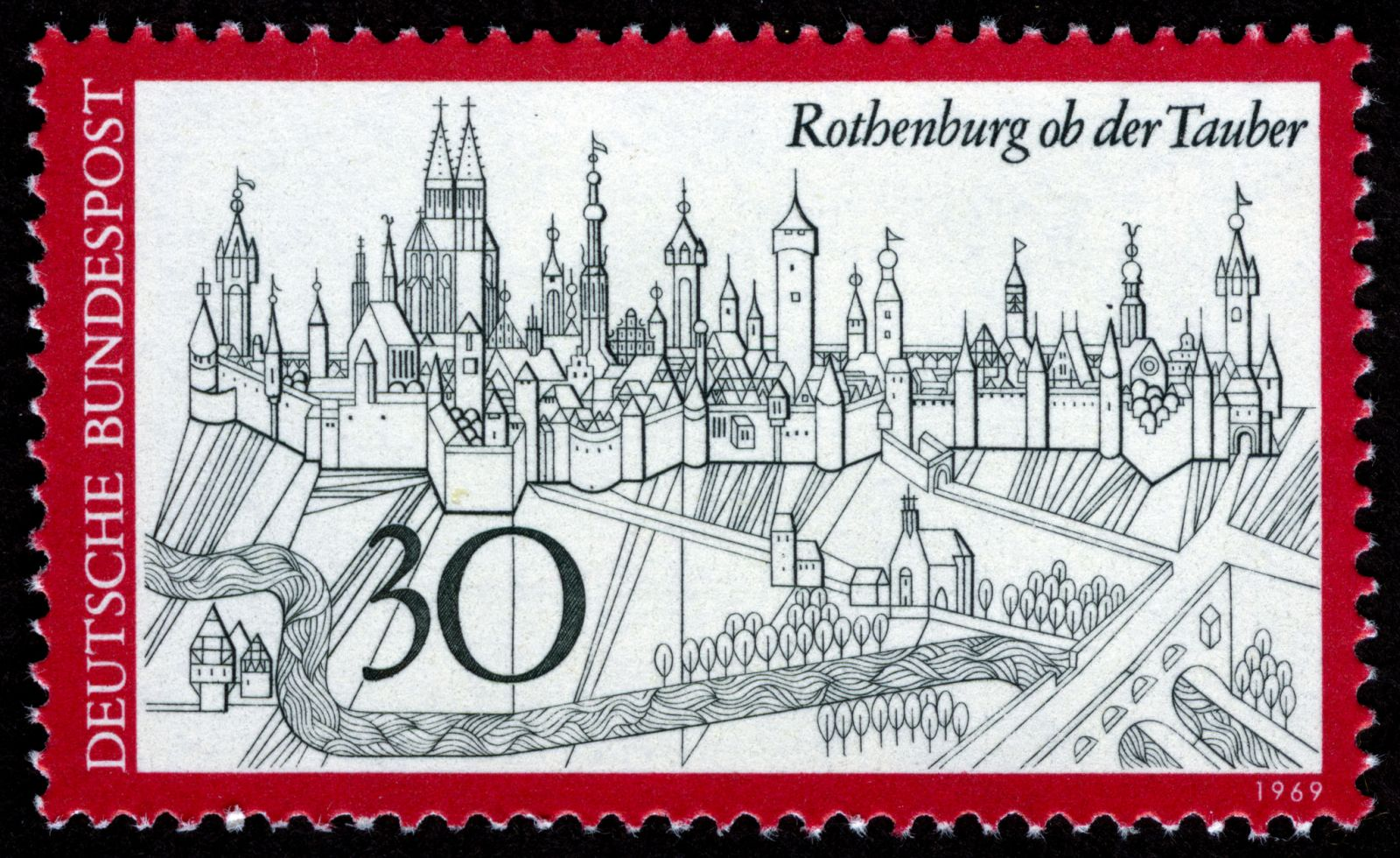Rothenburg ob der Tauber, 1969