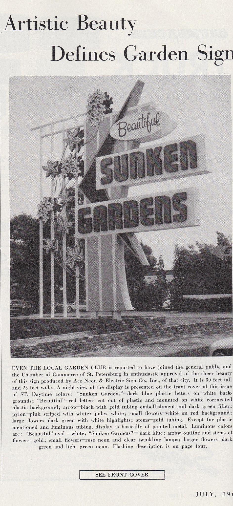 soT Sunken Gardens July 1960