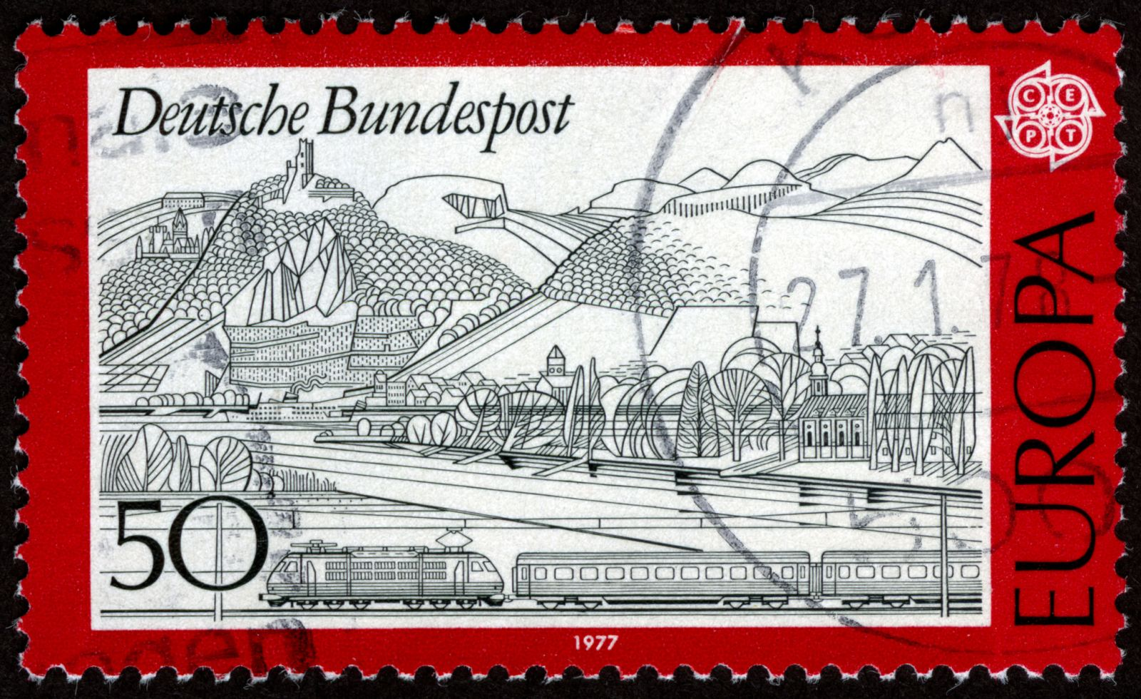 Europa Stamp, 1977