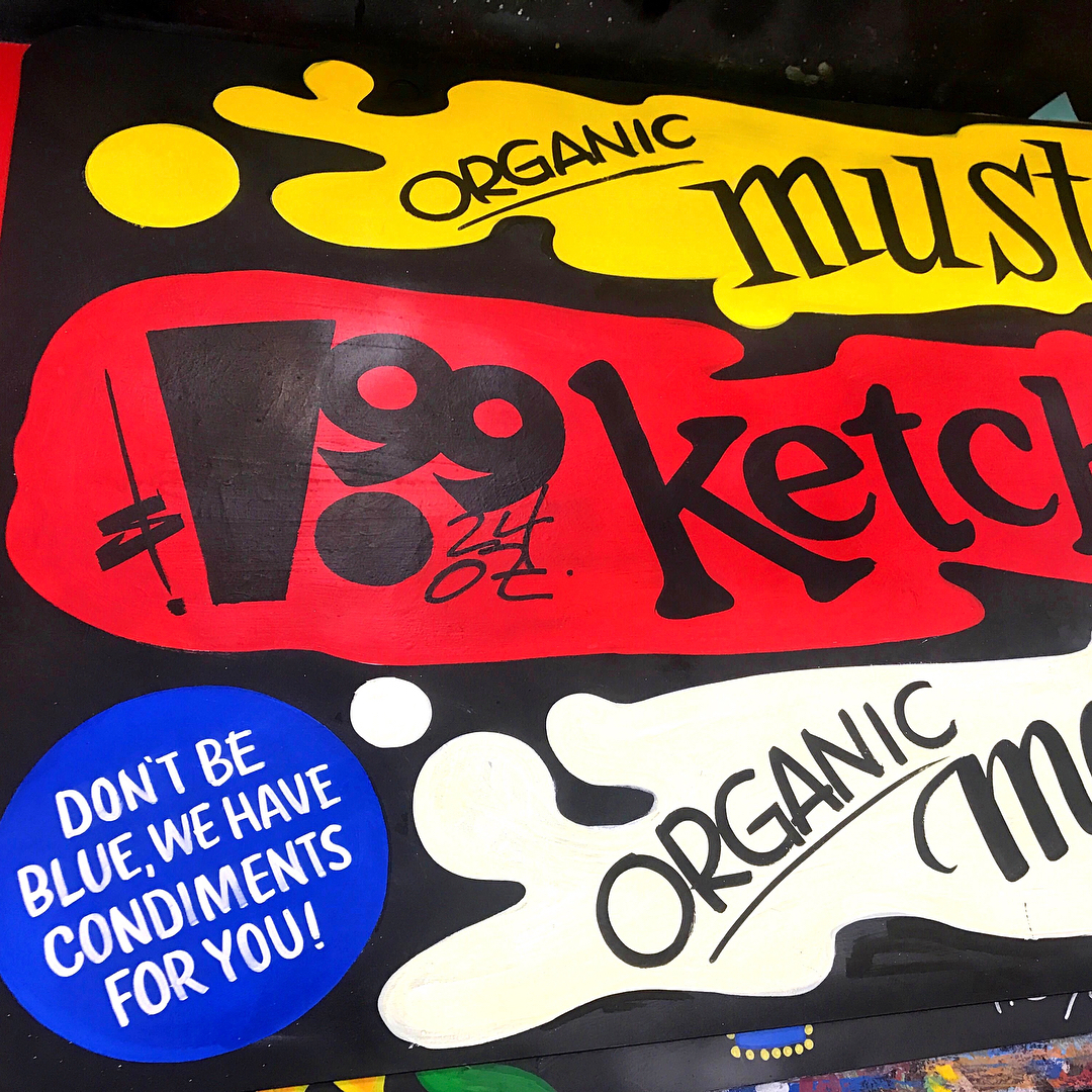 condiments sign by ksssigns