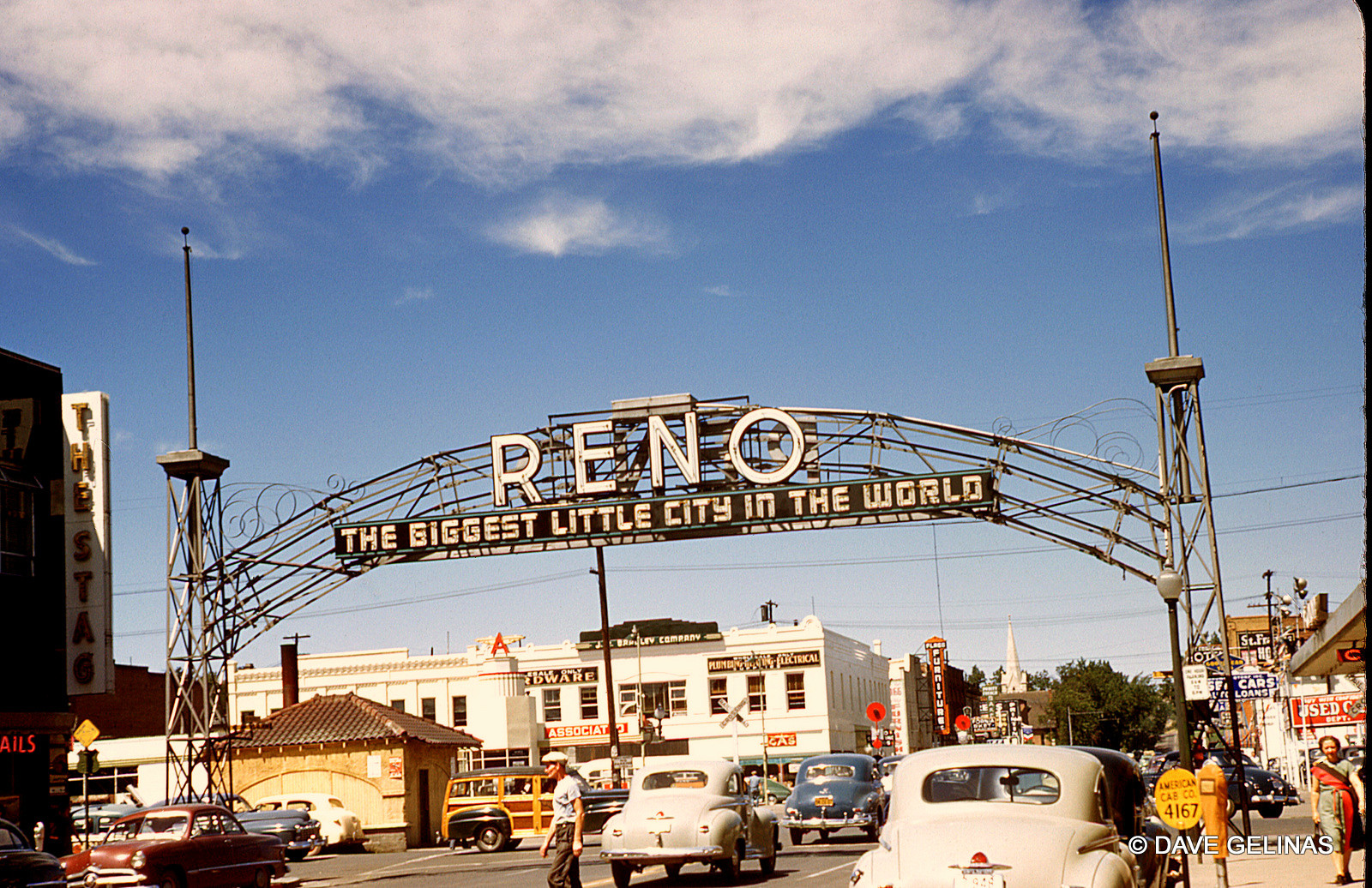 """Reno, Nevada - The """"Reno Arch"""""""