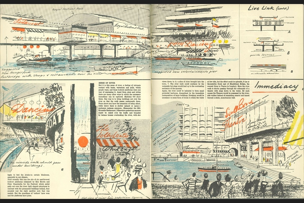 South Bank, London    Architectural Review, 1966