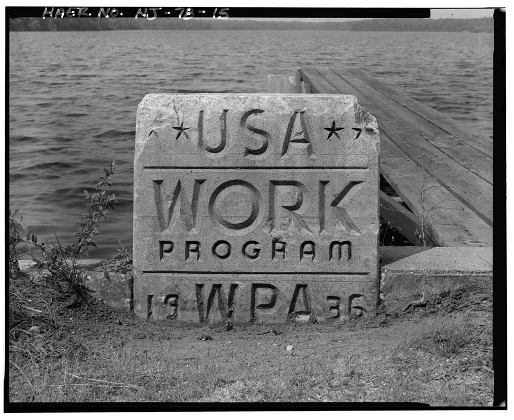 Detail Of Works Progress Administration (WPA) Monument