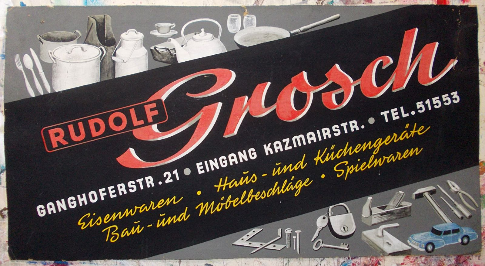 Altes handgemaltes Pappschild - Old hand lettered showcard…   Flickr