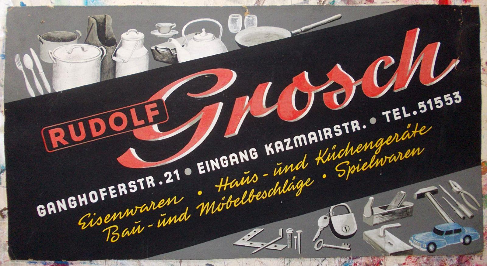 Altes handgemaltes Pappschild - Old hand lettered showcard… | Flickr