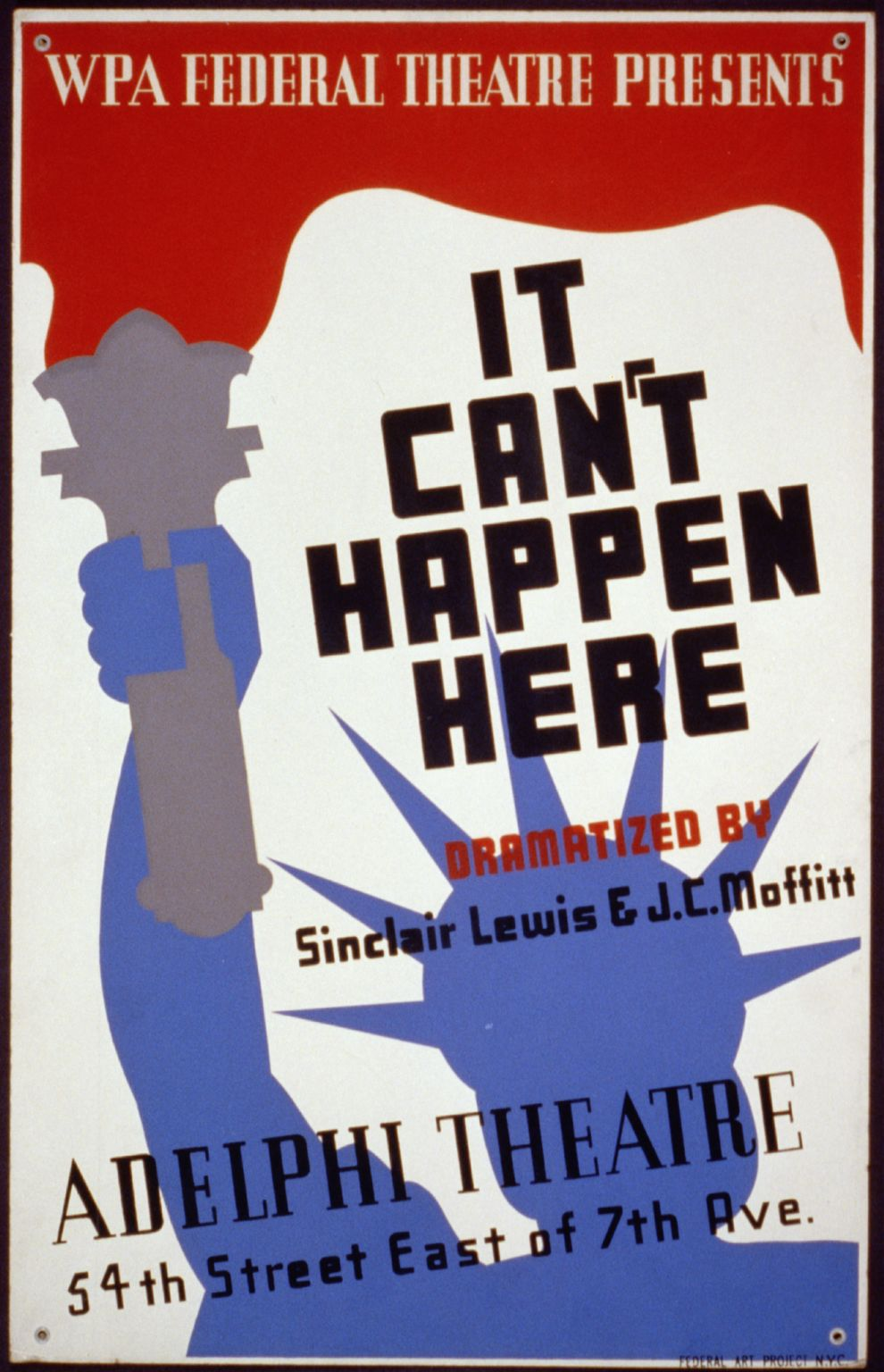 """WPA Federal Theatre presents """"It can't happen here"""" dramatized by Sinclair Lewis & J…"""
