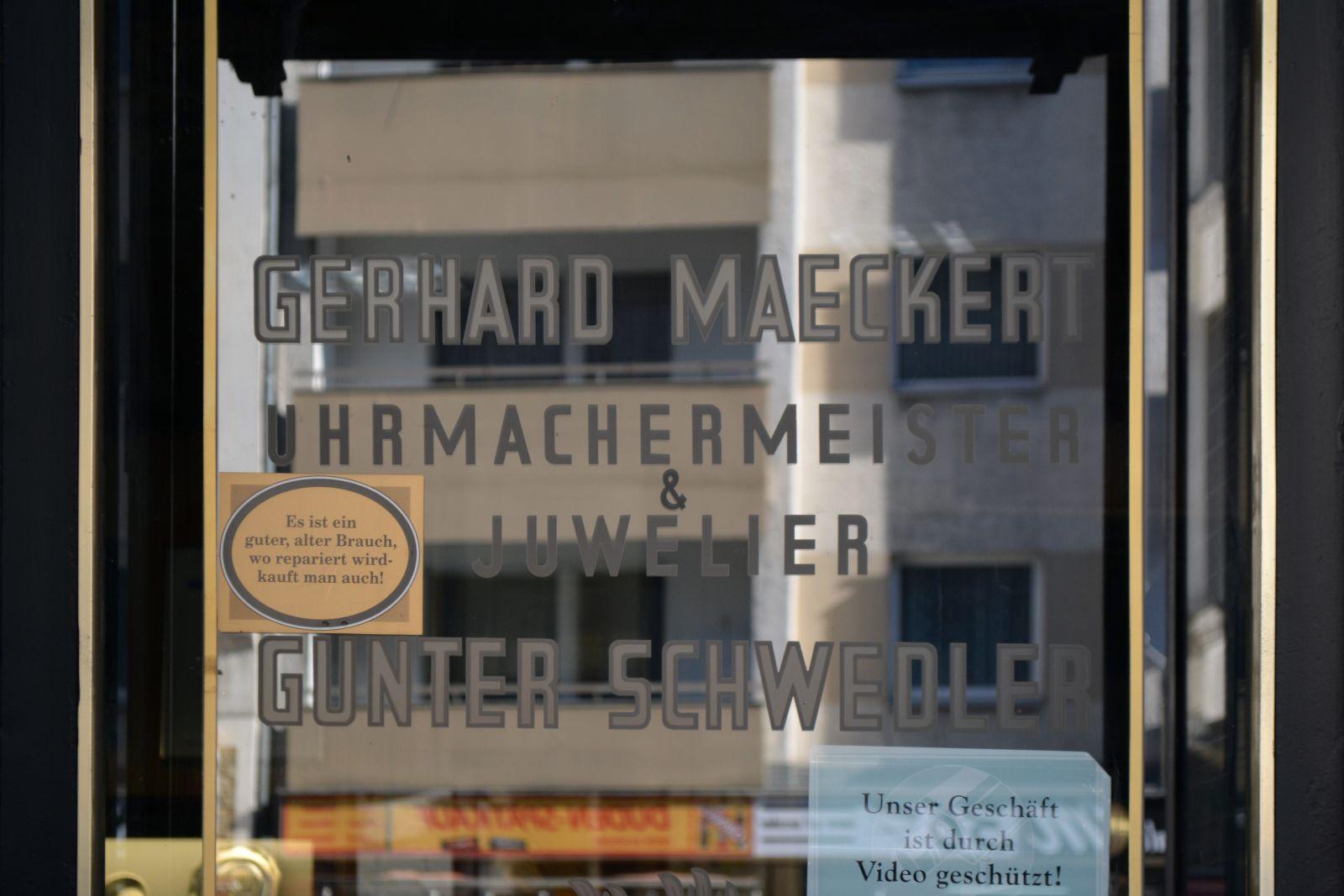 Gerhard Maeckert Uhrmachermeister & Juwelier Günter Schwedler