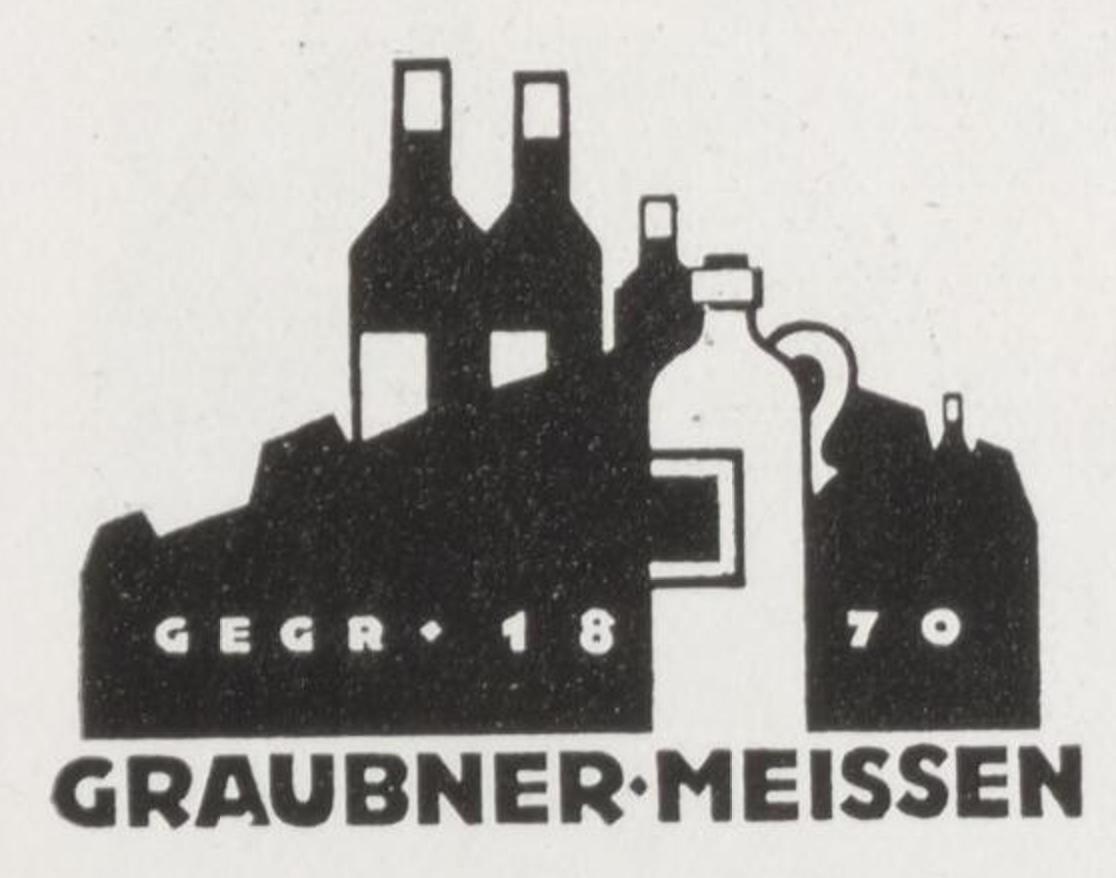Graubner Likörfabrik logo by Karl Schulpig