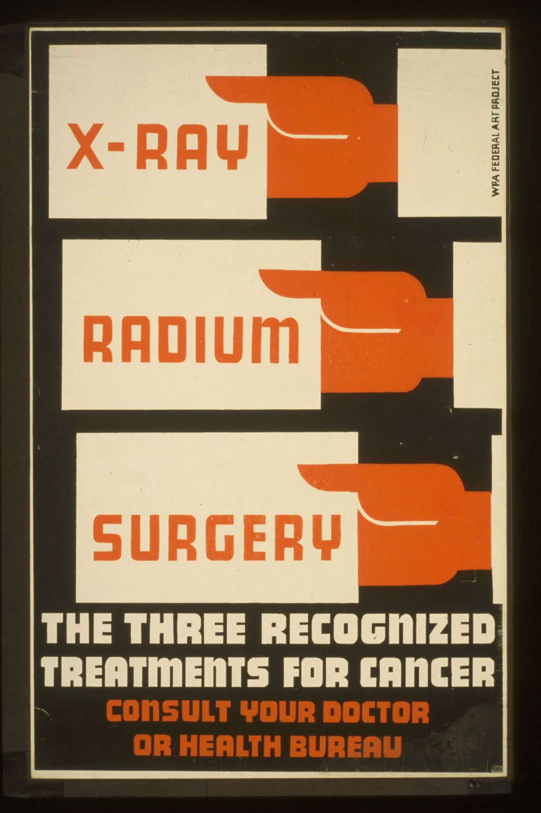 X-Ray, radium, surgery