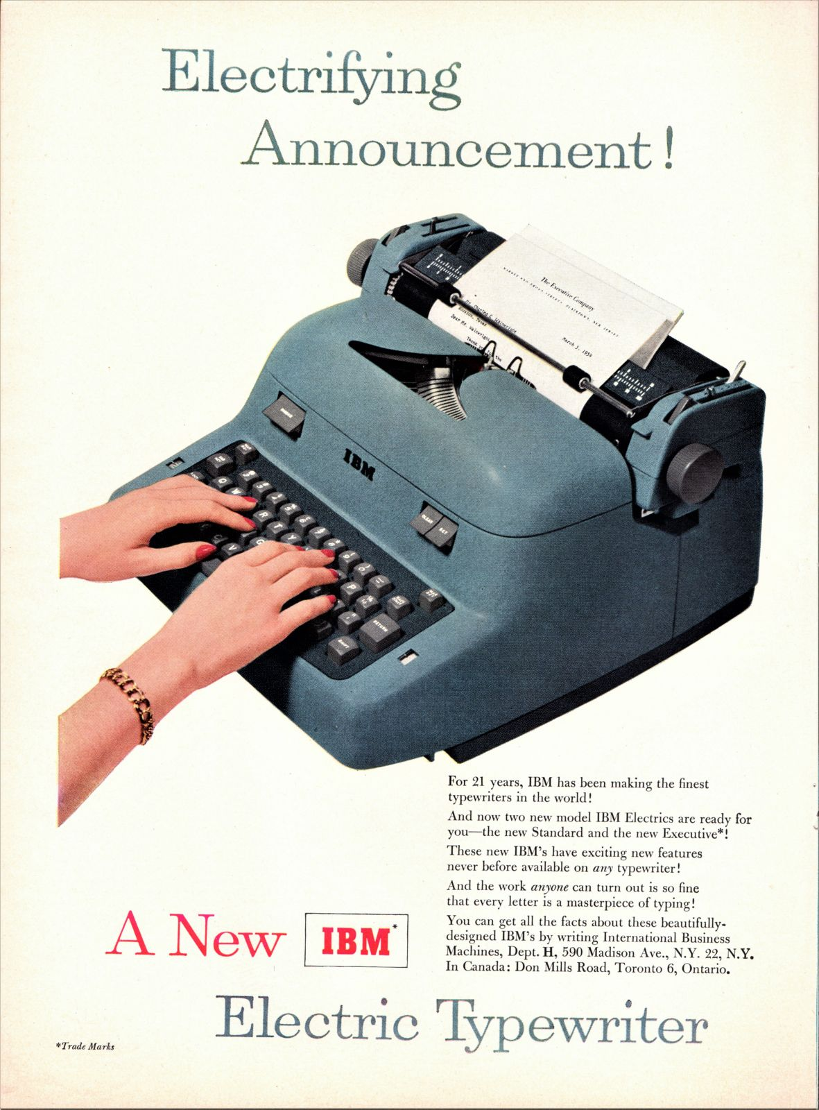 IBM Electric Typewriter