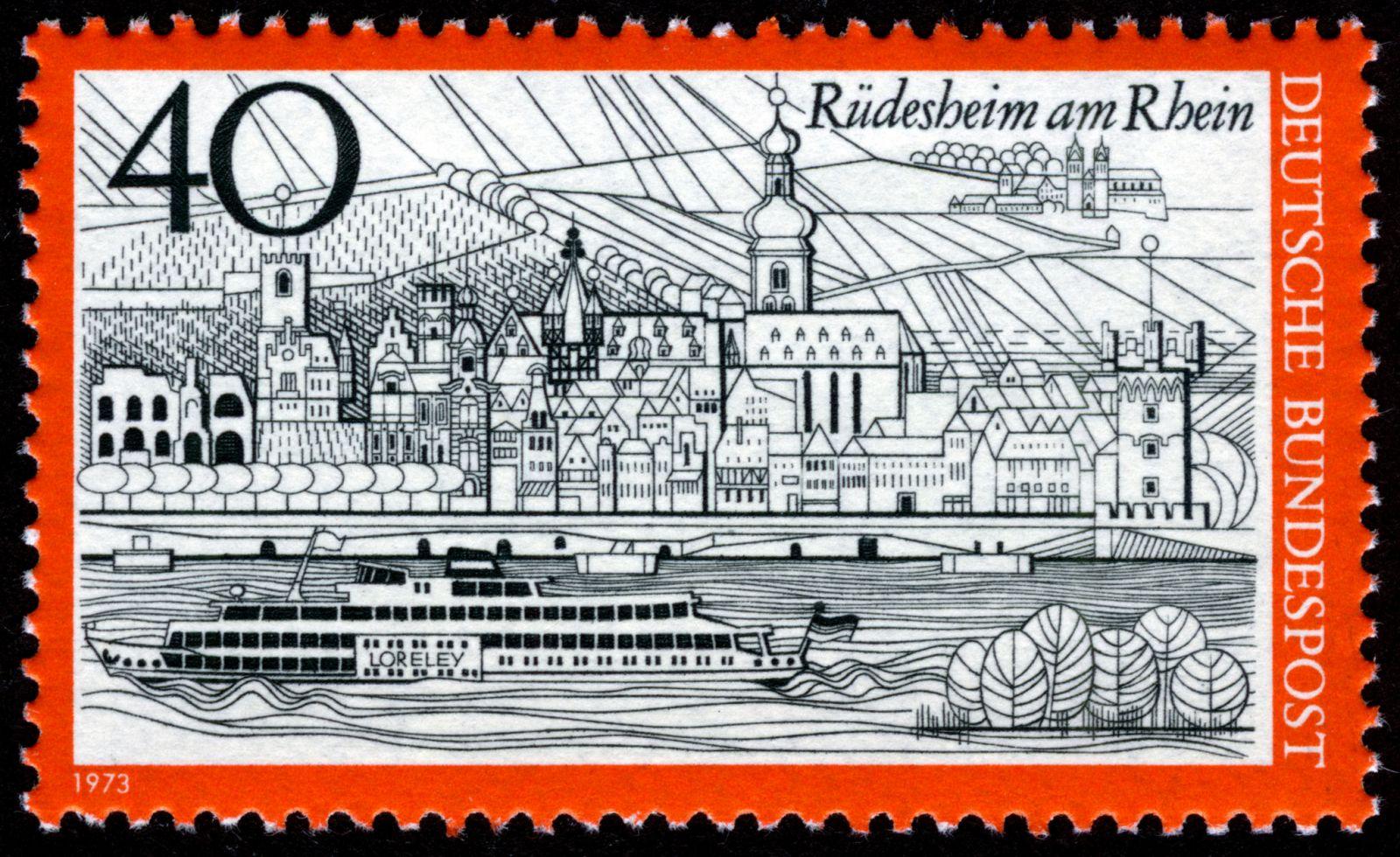 Rüdesheim am Rhein, 1973