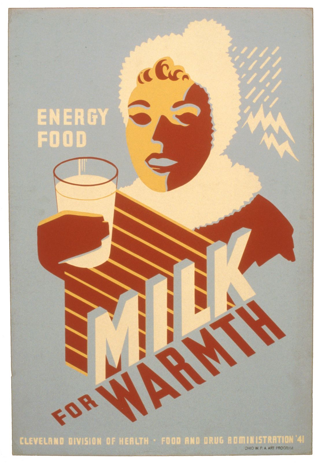Milk for warmth. Energy food.