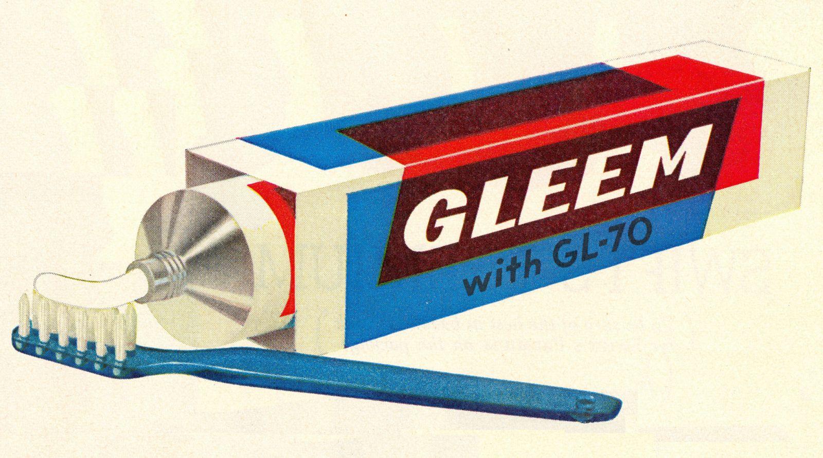 Gleem ad, 1955