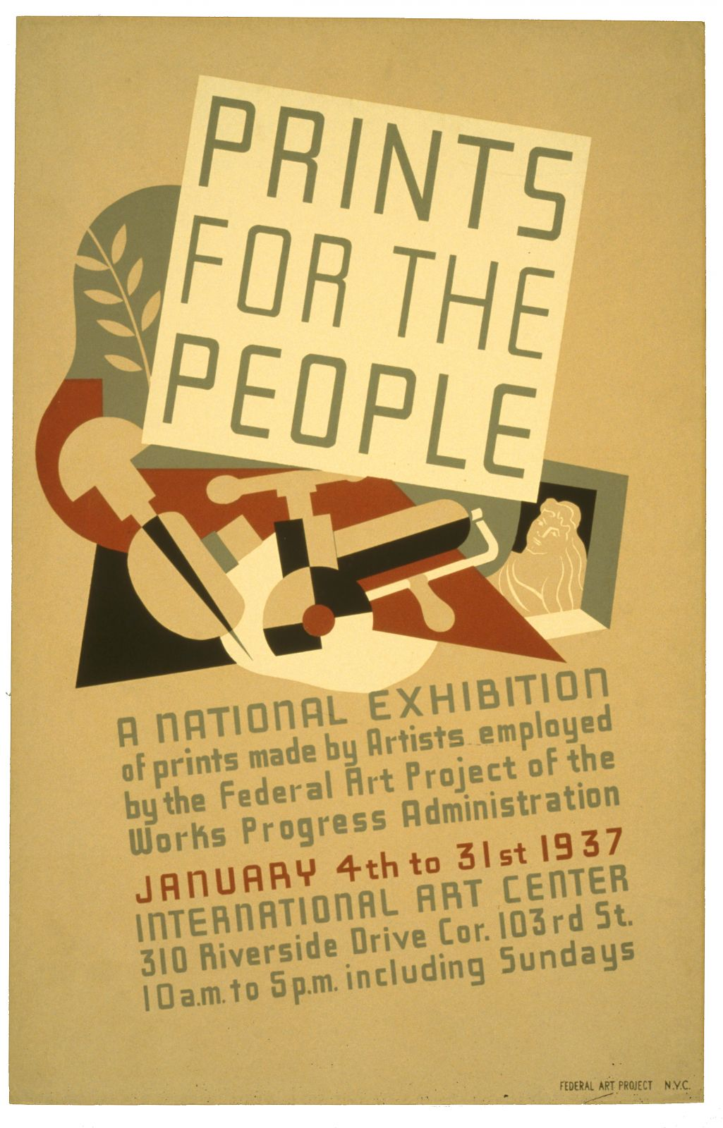Prints for the people A national exhibition of prints made by artists employed by the Federal Art P…