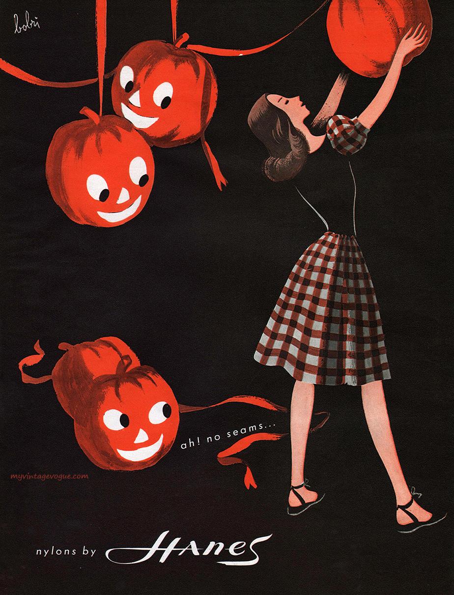 1946 Hanes nylons ad