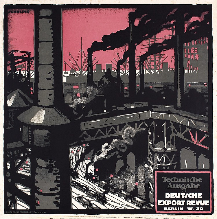 Karl Schulpig's 1915 cover design for Deutsche Export Revue.