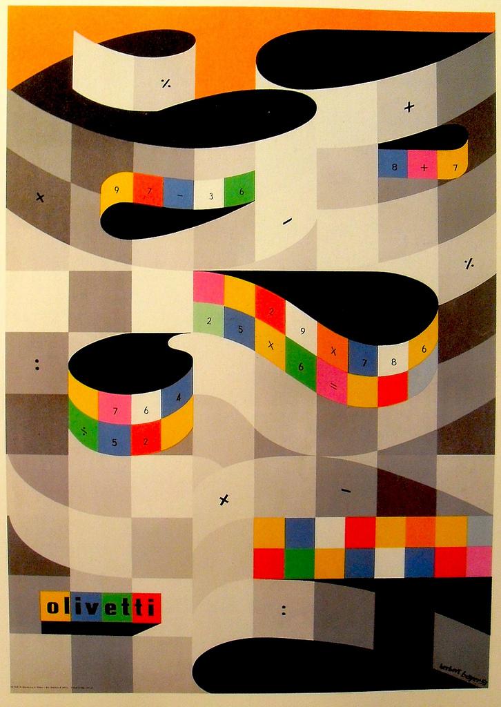 Herbert Bayer for Olivetti Typewriter, 1953