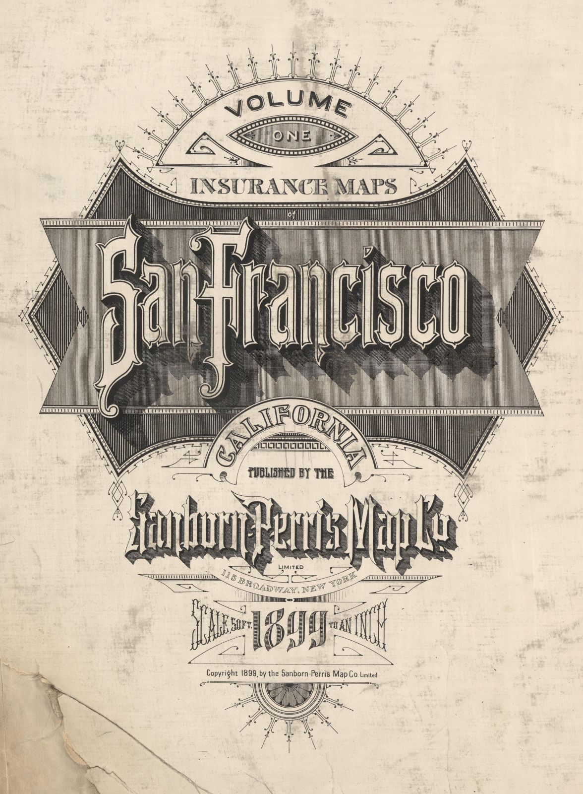 1899 Sanborn San Francisco Fire Insurance Maps - Title Page
