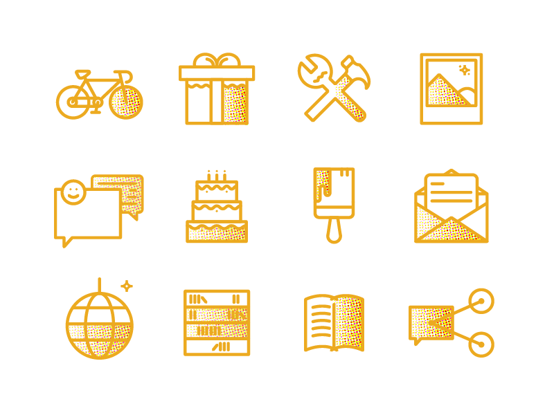 Campaigner - Halftone Icons
