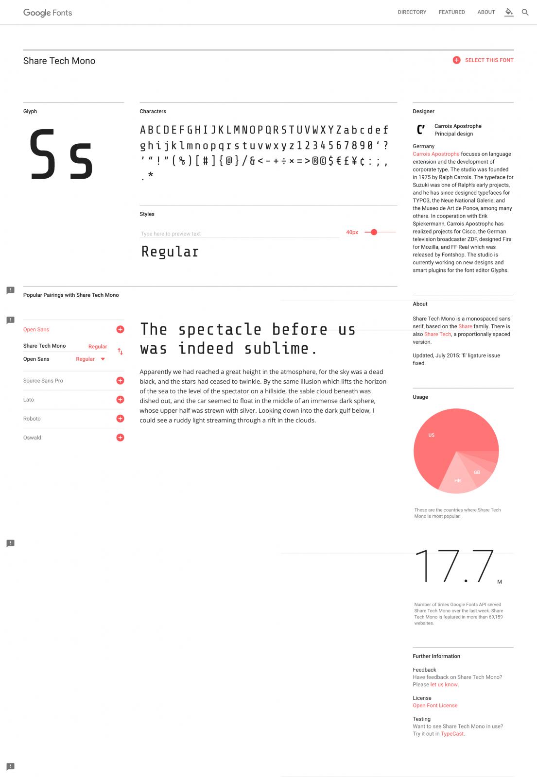 Share Tech Mono - Google Fonts
