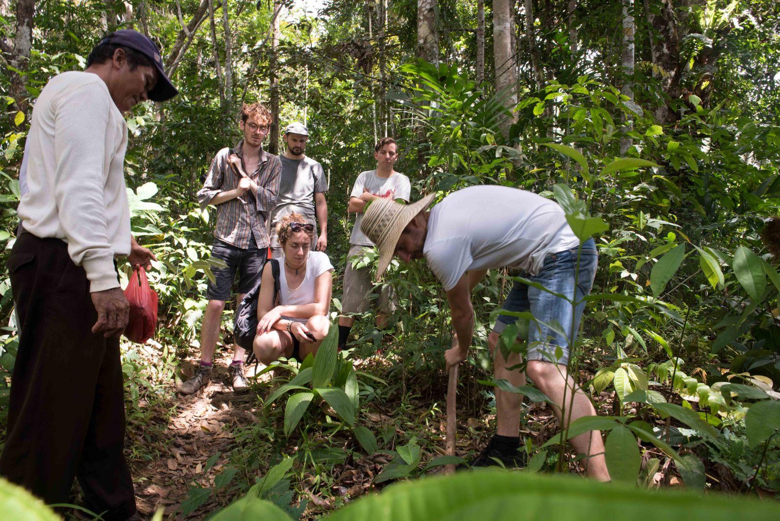 The Ecosia team visits the Gunug Lastarai reforestation project partners in Borneo, Indonesia - pho…