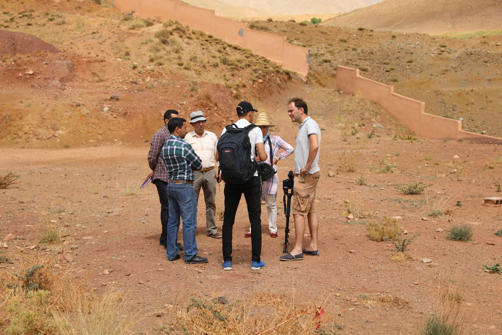 Ecosia's Tree Planting Officer visit's Ecosia's reforestation project with the High Atlas Foundatio…