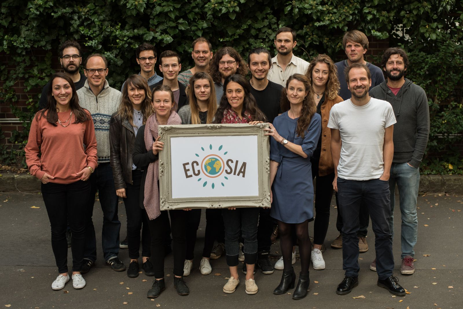 The Ecosia team at the Berlin office - photo credit: Shane McMillan