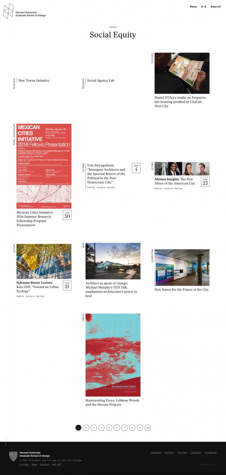 Social Equity - Harvard Graduate School of Design