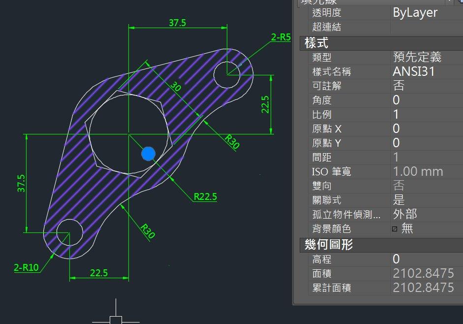 AutoCAD教學 幾何圖形習題02 %E7%B7%B4%E7%BF%92%20-%201