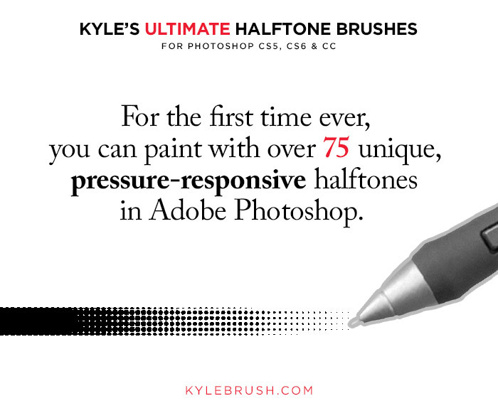 kyle's ultimate halftone brushes