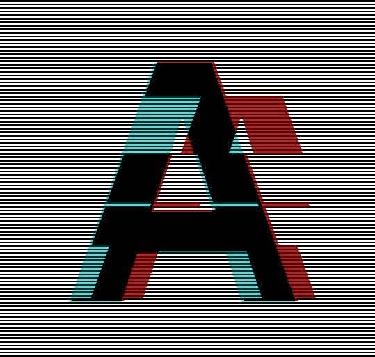 Glitched Helvetica . very cool: