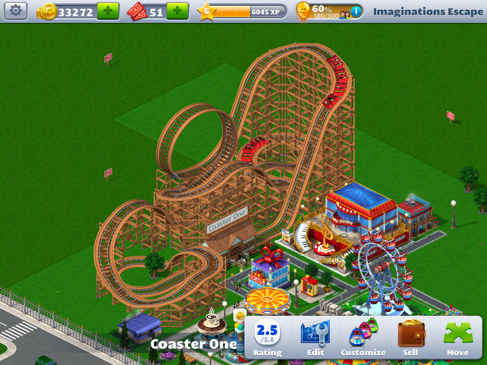 RCT 4 Mobile (not a good game)