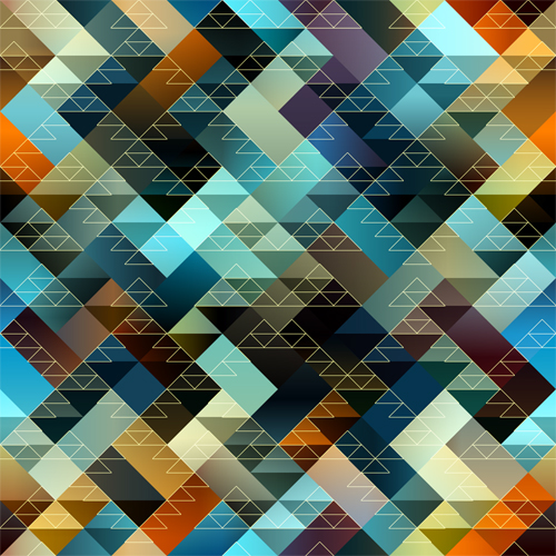 Geometric patterns of triangles