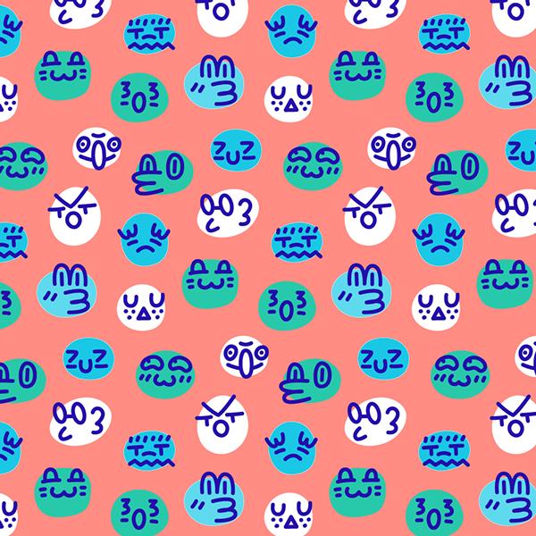 Patterns of random faces