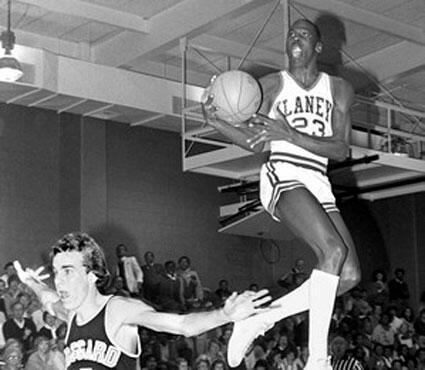 MJ in highschool.