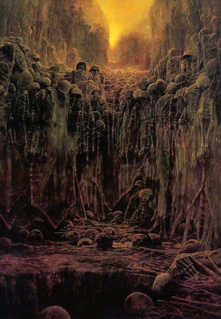Zdzisław Beksiński (1929-2005) was a painter of breathtaking dystopian images.