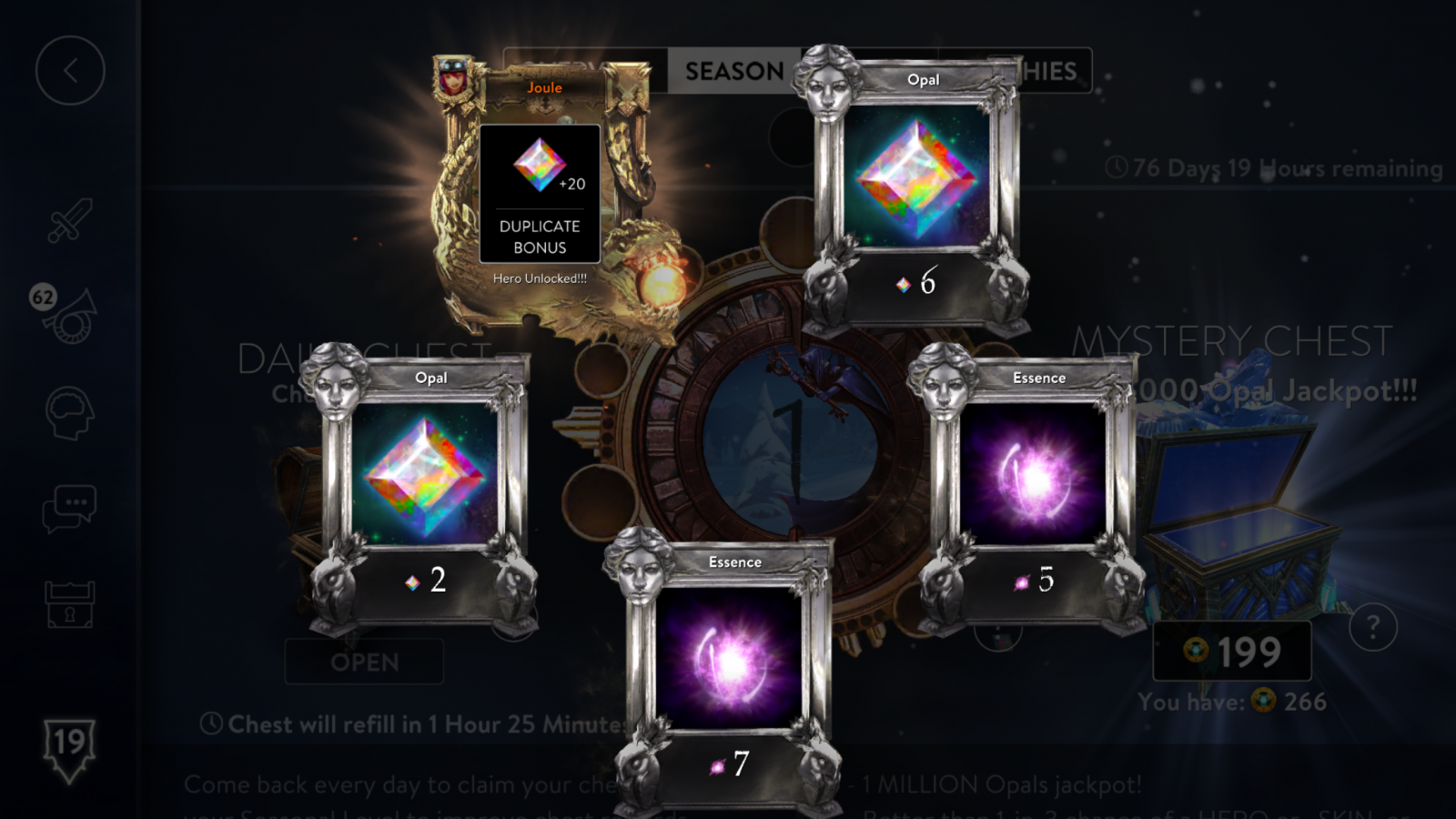 First 2.0 Mystery Chest roll 4