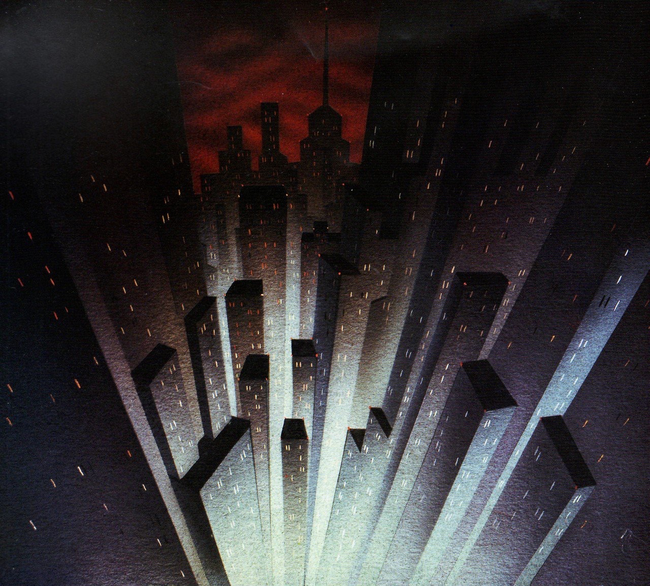 Background art for Batman the Animated Series