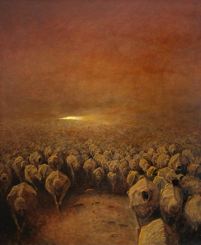 Zdzisław Beksiński (1929-2005) was a painter of breathtaking dystopian images.