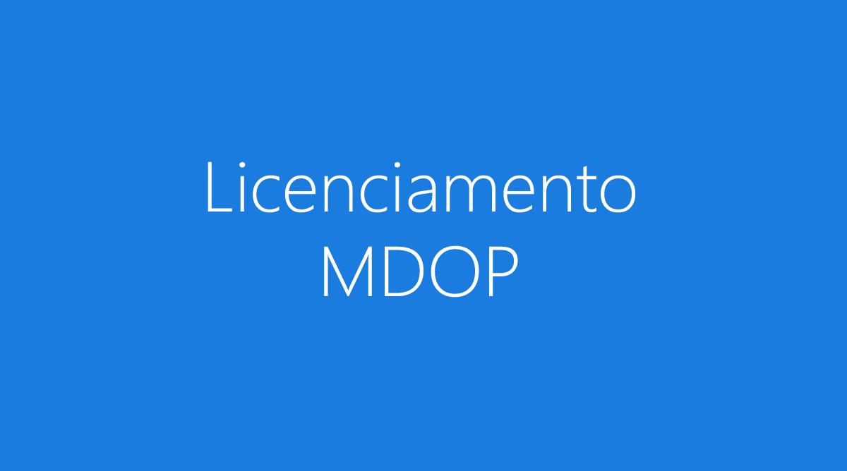 licenciamento do MDOP