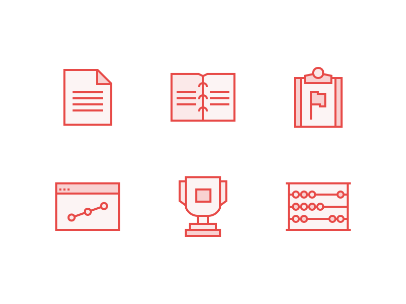829-reporting-and-training-icons-dribbble