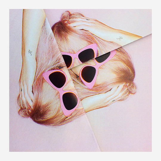 Pink cat-eye sunglasses from the #POPNOW collection