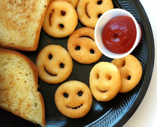 smiley face tater tot - Google Search