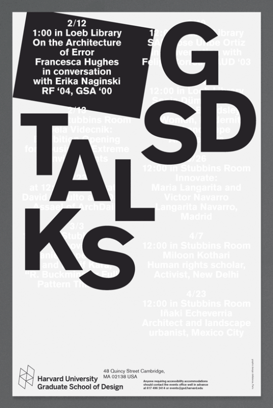 2015, GSD Talks, Harvard University