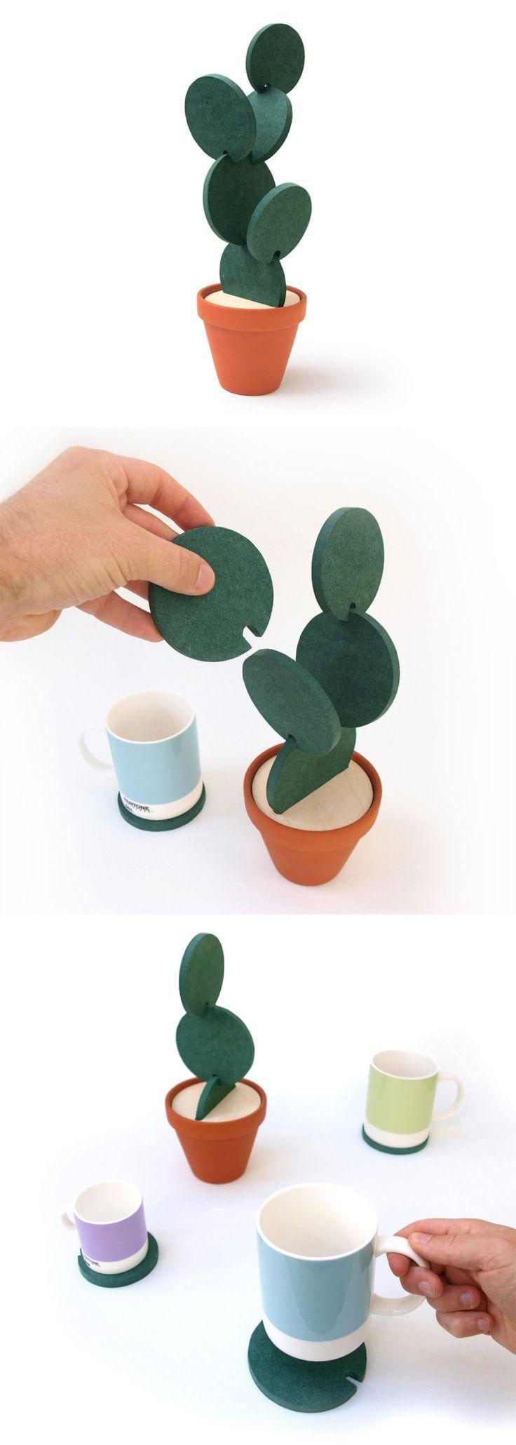 Cacti Coasters by designer Clive Roddy