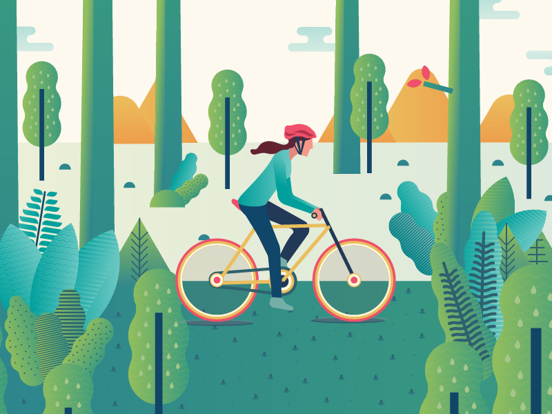 Benefits of Cycling by Meroo Seth - Dribbble