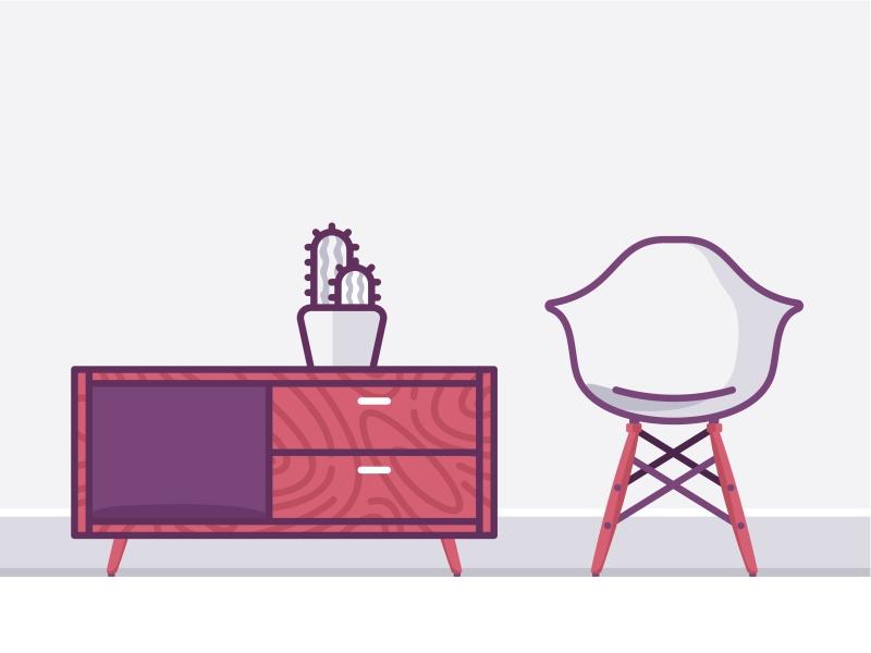 Living room furniture by Aleksandar Savic - Dribbble