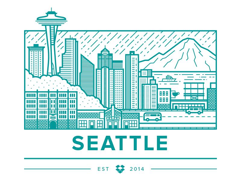 Dropbox Seattle by Brandon Land - Dribbble