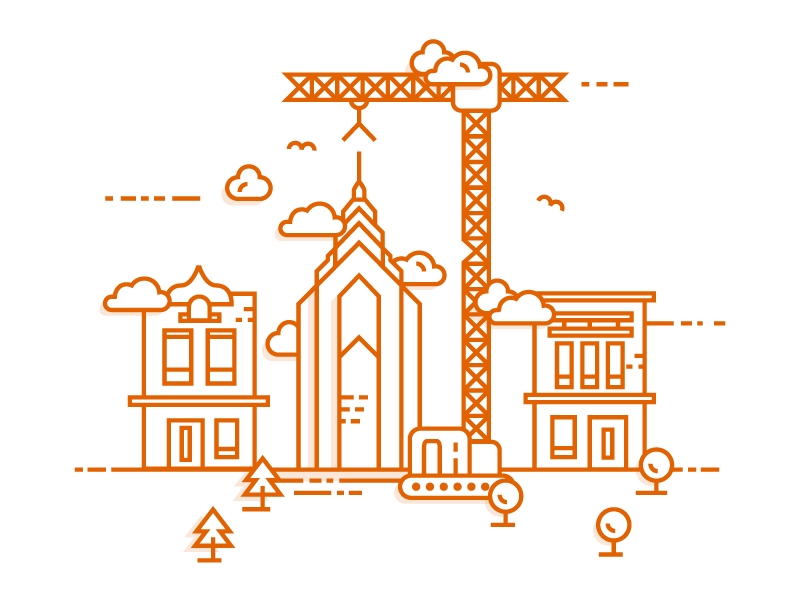 Site is under construction illustration by Mateusz Urbańczyk - Dribbble